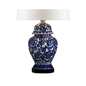 Blue and White Porcelain Temple Jar Table Lamp At $79.95