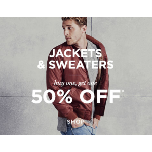 Buy 1 Get 1 Free & Get Flat 50% Off on Jackets & Sweaters