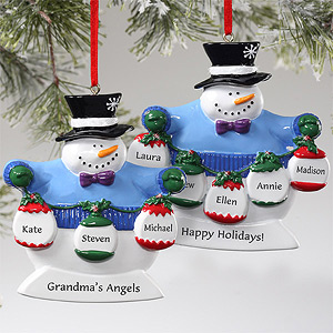Frosty Family Personalized Ornaments At  $11.15