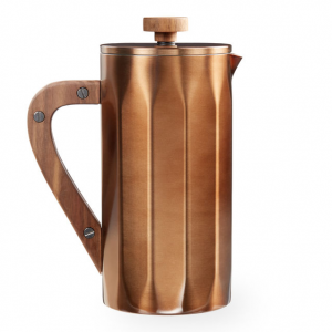 Starbucks Stainless Steel Coffee Press with Walnut Handle Copper 8-cup At $49.95