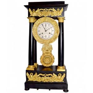 Rare 1700s French Portico Calendar Music Box Clock At Rs. $17800.00