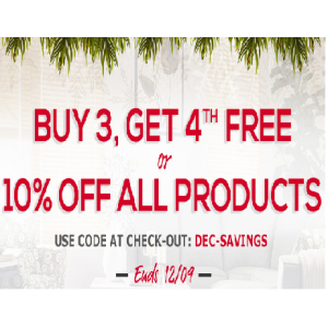 Buy 3 & Get 4th Free + 10% Off on All Products