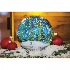SNOWFLAKES LED GLASS GLOBE At $36.00