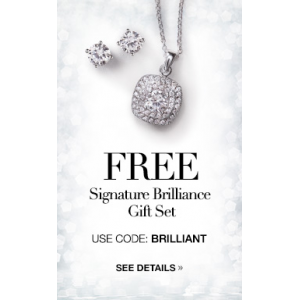 Get Signature Brilliance CZ Elegance Necklace And Earring Gift Set At $29.99