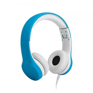 Get LilGadgets Connect+ Volume Limited Wired Headphones with SharePort for Children (Blue) At  $23.95