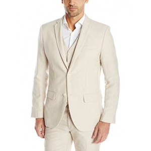 Buy Perry Ellis Men's Slim Fit Linen Poly Jacket At $175