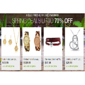 Spring Deals : Upto 70% Off on Jewelry