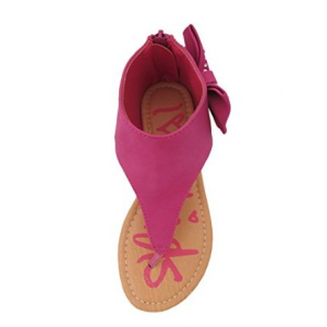 Get Karylle-12 Little Girls Flat Thong Sandals with Side Bow and Rhinestones At $19.99