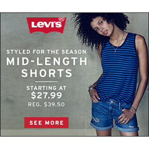 LEVI's : Buy Mid Length Shorts Starting At $27.99