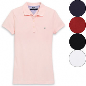Flat 60% Off on Tommy Hilfiger Women's Heritage Fit Polo