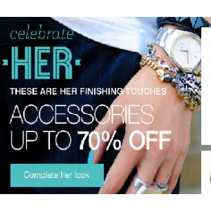 Get Upto 70% Off on Jewelry,Watches & More