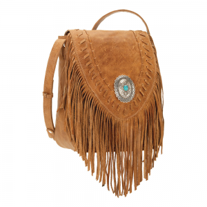 American West Seminole Tan Fringe Crossbody Bag At $219.99