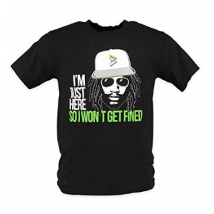 Grab Beast Mode Im Just Here So I Don't Get Fined Short-Sleeve T-Shirt At $34.00