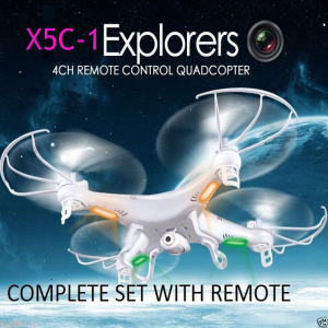 Syma X5C-1 Explorers 2.4GHz 4CH 6 Axis Gyro RC Quadcopter With HD 2MP Camera At $37.95