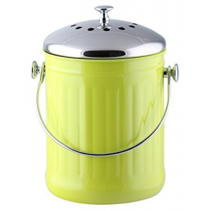Kitchen Maestro 1 Gallon Counter Top Stainless Steel Compost Bin At $24.99