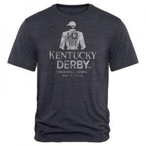 Men's Navy Kentucky Derby 142 Vintage Post Tri-Blend T-Shirt At $29.99