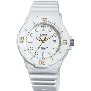Get Casio Women's Diver Watch, White Face and White Strap At $17.74