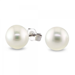 7-8mm White Freshwater Cultured Pearl Stud Earrings At $7.99