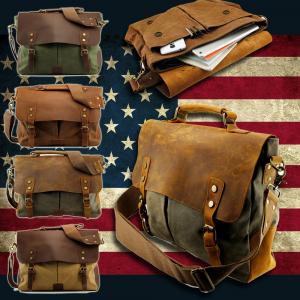 Vintage Style Men's Canvas Shoulder Casual School Military Messenger Travel Bag At $30.99