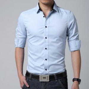 Get Fashion Men's Luxury Casual Dress Slim Fit Long Sleeve Shirts Just At $11.39