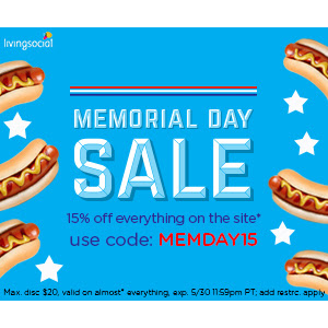 Memorial Day Sale : Get Extra 15% off sitewide