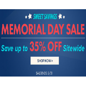 Memorial Day Sale : Save Upto 35% Off on Sitewide
