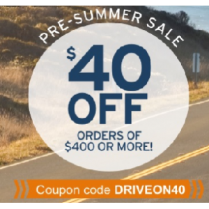 Pre Summer Sale : Get $40 Off on Order Of $400 & More