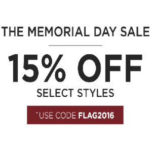 The Memorial Day Sale : Flat 15% Off on Men's Apparel