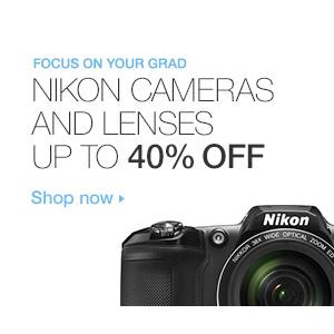Get Upto 40$ Off on Nikon Cameras & Lenses