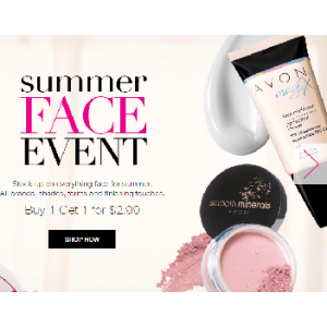 Summer Face Event : Makeup Buy 1, Get 1 for $2.99