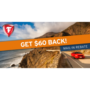 Get $60 back on a set of 4 select Firestone tires!