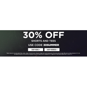 30% Off On Tees & shorts