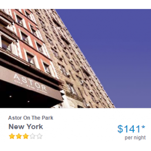 New York : Astor On The Park Just At $140.12