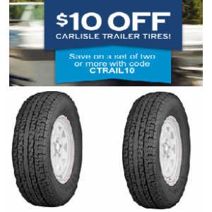 Get $10 Off on Carlisle Trailer Tires