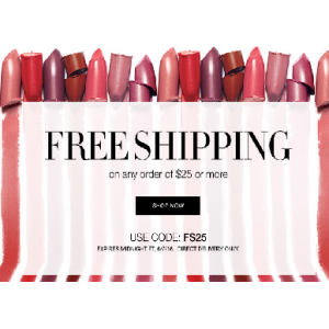 Free Shipping on Any Order Of $25 & More