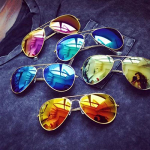 Get Cool Aviator Women Mens Silver Mirrored Lens Brown Red Green Black Sunglasses At $1.75