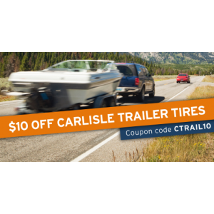 Save $10 on a set of Carlisle trailer tires
