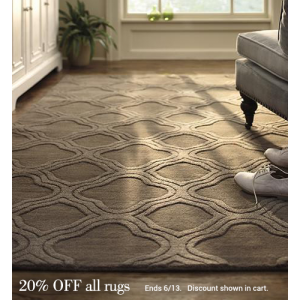 Flat 20% Off on All Rugs