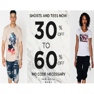 Get Upto 30% - 60% Off on Shorts & Tees