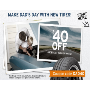 Father's Day Special : Get $40 Off on Order Of $400 or More