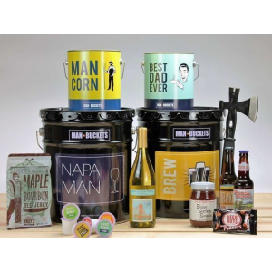 $30 to Spend on Gift Buckets for Manly Men At $15(living Social)