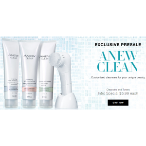 Exclusive Pre Sale : Save $5.99 on Cleansers & Toners (Avon)