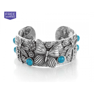 Carved Southwest Turquoise Cuff Bracelet At $11.99 (Livingsocial)