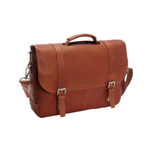 Kenneth Cole Reaction Show Business - Colombian Leather Flapover Computer Case - Cognac At $94.99 (Newegg)