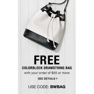 Get Free Colorblock Drawstring Bag on Order Of $55 or More At Avon
