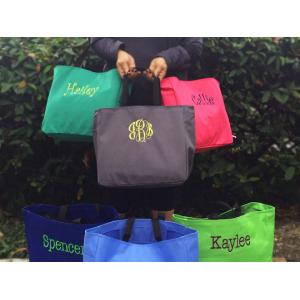Monogrammed Tote Bag At $17.99(livingsocial)