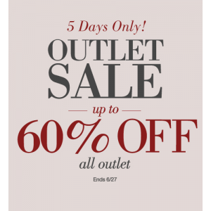 Outlet Sale : Get Upto 60% Off on All Outlet At Home Decorators
