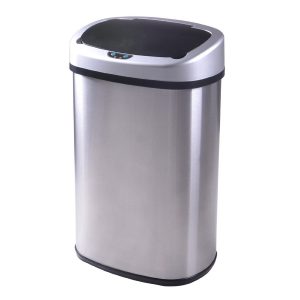 New 13-Gallon Touch-Free Sensor Automatic Stainless-Steel Trash Can Kitchen 50R At $34.99 (Ebay)