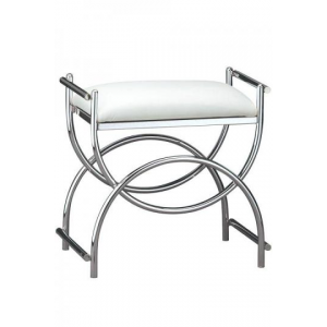 Buy Curve Chrome Vanity Bench At $129 (Home Decorators)