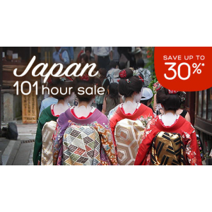Japan 101 hour sale : Save Upto 30% Off on Travels At Hotels.com